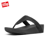 【FitFlop】LOTTIE GLITZY TOE-THONGS 經典水鑽夾腳涼鞋-女(黑色)