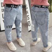 男童牛仔褲夏裝休閒褲寬鬆長褲