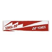 Yonex Towel [AC10029TR496] 毛巾 運動 羽球 吸汗 舒適 柔軟 22x100cm 紅白
