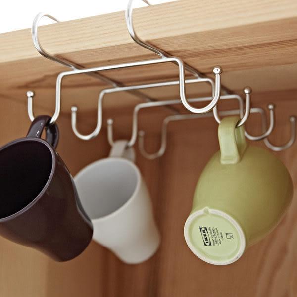 收納架 杯架【D0025】不鏽鋼吊掛層板馬克杯架(8pcs) MIT台灣製 完美主義