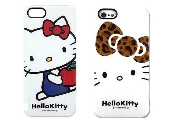 尼德斯Nydus~* 日本正版 Hello Kitty 凱蒂貓 保護殼 手機殼 iphone5 5s 三麗鷗授權 共2款
