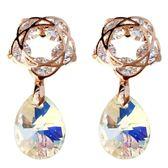 年終盛典 奧地利水晶銀針耳釘女氣質韓國個性簡約百搭耳墜ins耳環少女耳飾