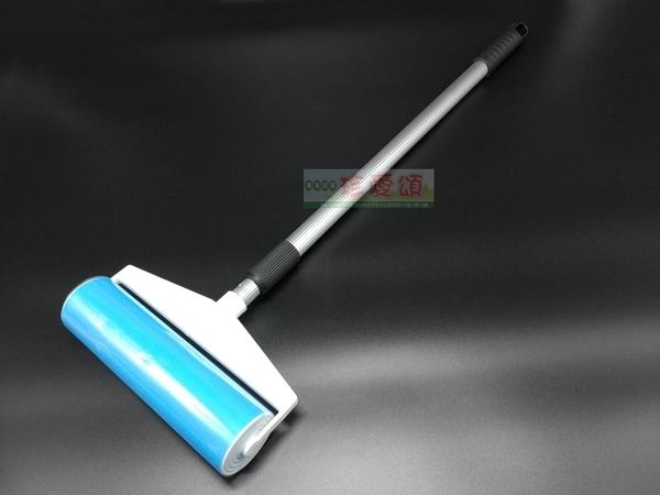 【JIS】F042 附伸縮桿黏毛刷(大) 除塵刷 除塵器 粘毛器 滾毛器 免耗材 滾輪 滾筒 除靜電 地板清潔
