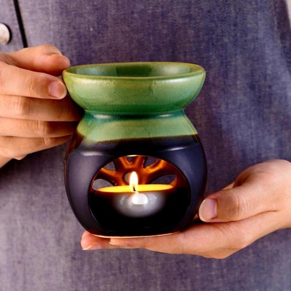 外貿尾單半綠|復古蠟燭香薰爐精油燈陶瓷美容院家居 美眉新品