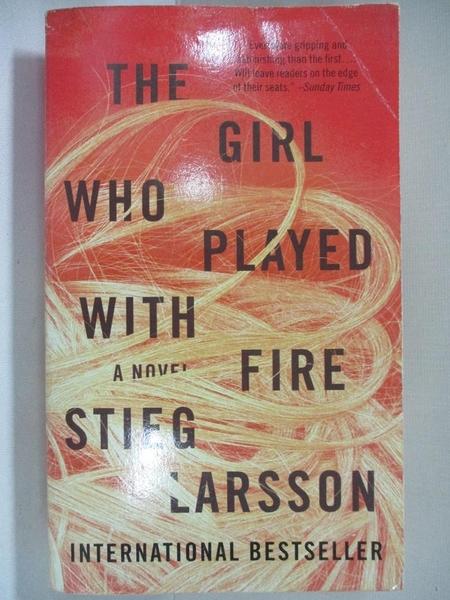 【書寶二手書T9/原文小說_AQP】The Girl Who Played with Fire_Stieg Larsson