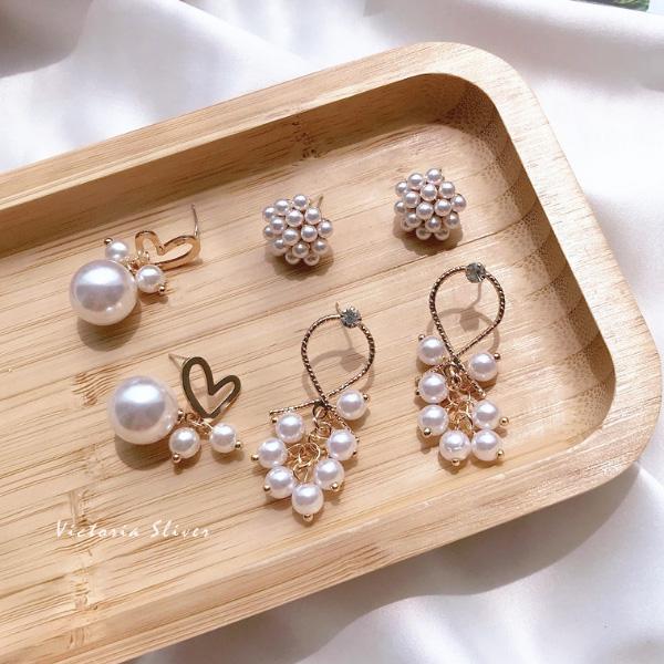 925純銀針  韓國優雅氣質 甜美魅力、耳環-維多利亞190625