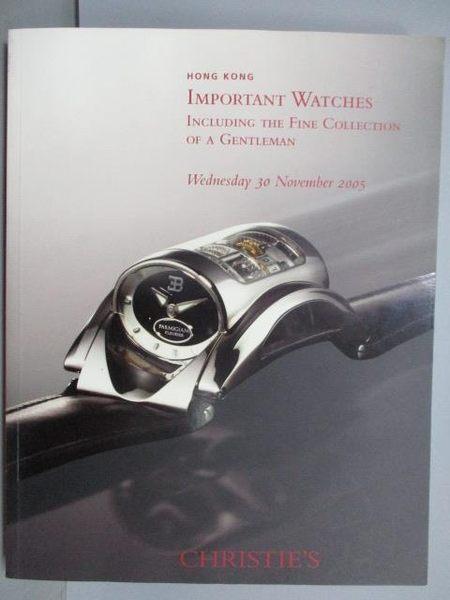 【書寶二手書T7/收藏_PMY】Christie s_Important Watches_2005/11/30