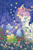 【拼圖總動員 PUZZLE STORY】米奇&米妮剪影 日本進口拼圖/Epoch/迪士尼/70P/布面