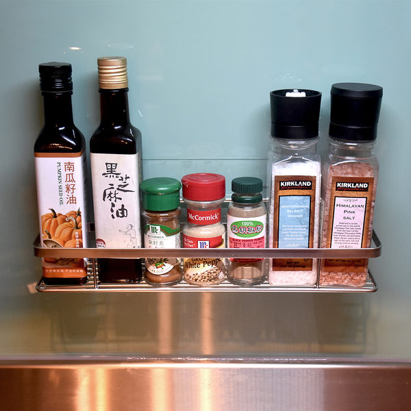 長型調味罐架 304不鏽鋼無痕掛勾 易立家生活館 舒適家企業社 廚房收納瓶罐置物架