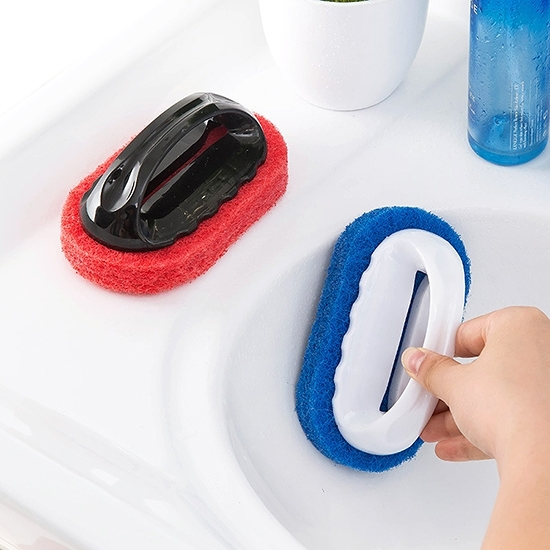 海綿刷 菜瓜布 刷子 洗碗刷  纖維刷 清潔刷 抽油煙機 磁磚 手柄 清潔刷 ◄ 生活家精品 ►【K054】