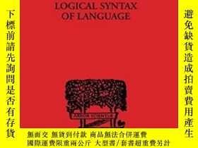 二手書博民逛書店Logical罕見Syntax Of Language (int