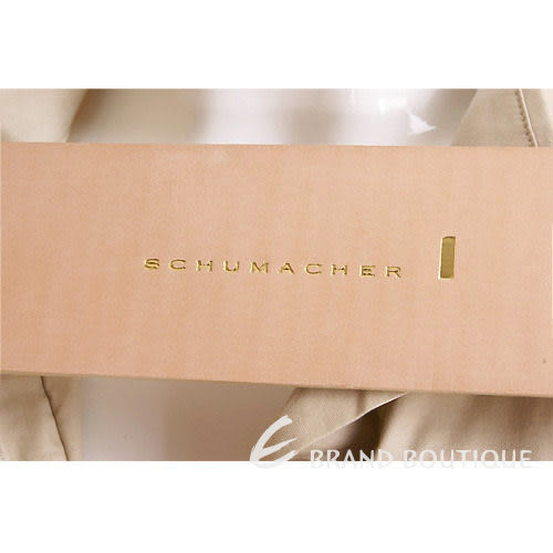 SCHUMACHER 米白色蝴蝶結寬版腰帶 1010483-03