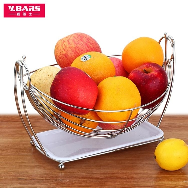 水果盤 水果盤客廳創意家用歐式瀝水果盆不銹鋼現代簡約茶幾干果水果籃子