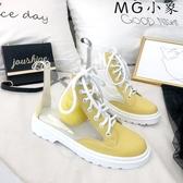 MG 馬丁鞋-馬丁靴百搭高幫透明靴子