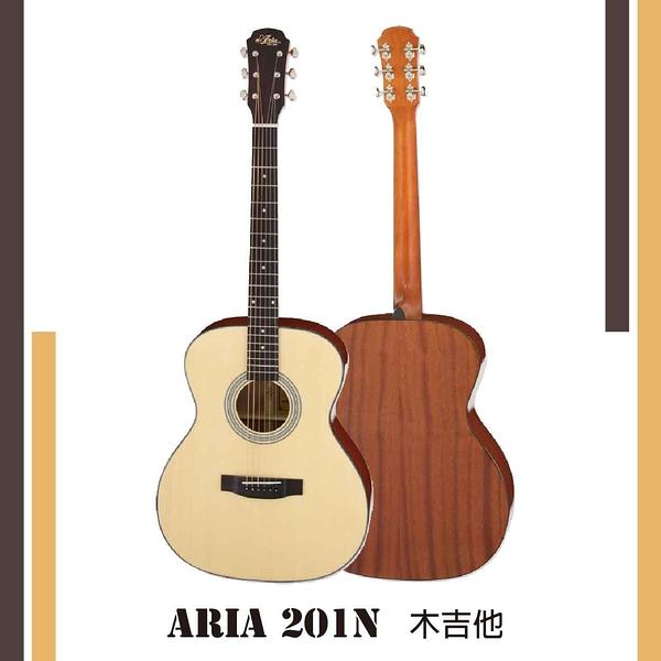 【非凡樂器】ARIA【201N】木吉他/日本吉他品牌/單板雲杉面/公司貨保固