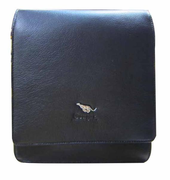 ~雪黛屋~Cougar 斜側包美國專櫃紳士100%進口牛皮革隨身物品可肩背可斜側背百搭耐磨耐承重CG8222A