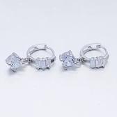 耳環 925純銀鑲鑽-高貴奢華生日情人節禮物女飾品73ds71[時尚巴黎]
