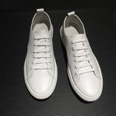 小白鞋 男2019夏季透氣男鞋 韓版潮流休閒皮鞋 軟底板鞋 薄款鞋 子 新年特惠