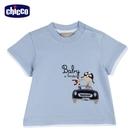 chicco- 快樂賽車手-印圖短袖上衣-藍