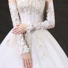 蕾絲加長款薄款新娘結婚禮服手套