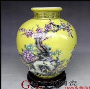 景德鎮 陶瓷器 花瓶 花鳥 壇