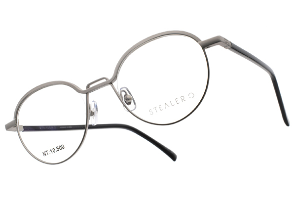 STEALER 光學眼鏡 KEEN C03 (銀-黑) 金屬流線時尚款 # 金橘眼鏡