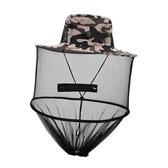 防蚊帽防蜂頭罩防蟲帽戶外蜜蜂帽專用遮臉養蜂帽子迷彩帽子夏季防蟲帽網 嬡孕哺