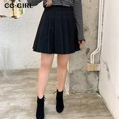 中大尺碼  百褶A字短裙~共兩色 - 適XL~4L《 69051 》CC-GIRL