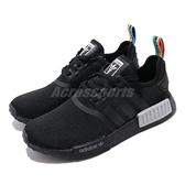 adidas 休閒鞋 NMD_R1 W 黑 彩色 男鞋 女鞋 Boost 襪套式 運動鞋【ACS】 Q47261