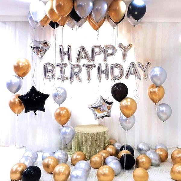 鋁膜氣球裝飾生日派對布置浪漫驚喜女男朋友成人生日快樂字母套餐  全館鉅惠