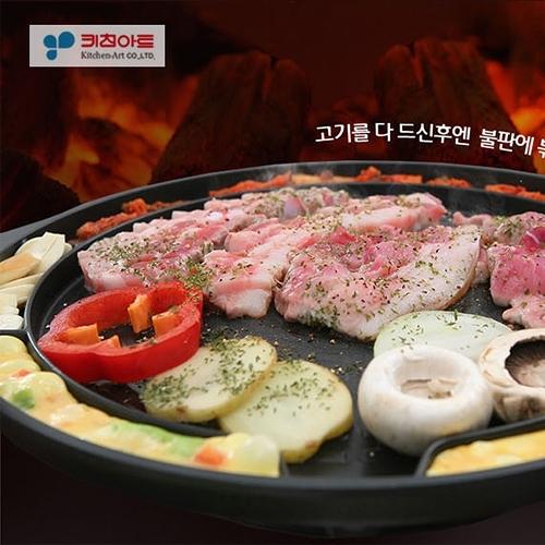 【韓國代購】韓國Kitchen-Art圓形多功能烘蛋6格烤盤