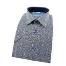 【南紡購物中心】【襯衫工房】長袖襯衫-白底深藍色葡萄藤印花