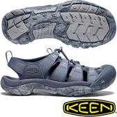 KEEN 1020286灰藍/藍 NewPort H2 男戶外護趾涼鞋 水陸兩用溯溪鞋/運動健走鞋/沙灘戲水拖鞋
