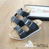 拖鞋 雙扣飾大鞋面楔型拖鞋 MA女鞋 T9533
