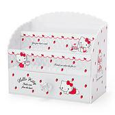 Sanrio HELLO KITTY公主風桌上型化妝品收納架(草莓午茶)★funbox★_246875N