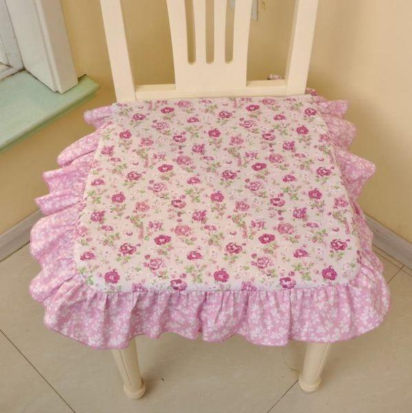 [超豐國際]棉布 田園布藝棉含芯方形坐墊 椅墊可拆洗餐椅墊家