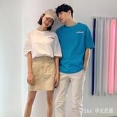 2020夏裝新款女裝純棉寬鬆上衣情侶款短袖T恤 KP1640【Pink 中大尺碼】