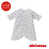 MIKI HOUSE BABY 日本製 新生兒蝴蝶紗布衣(富士山)