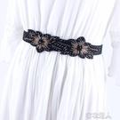 韓國連衣裙松緊黑色腰封外搭時尚腰帶女裝飾配西裝大衣毛衣裙子 布衣潮人