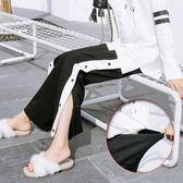 孕婦春裝韓版褲子外穿時尚孕婦闊腿褲寬鬆運動褲春秋外穿