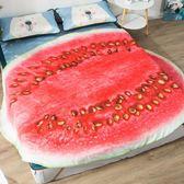 夏季單人 空調被夏涼被夏季薄被子 水果西瓜沙發床蓋毯新品熱銷夏天薄款 潮流衣舍