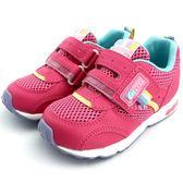 《7+1童鞋》日本月星    MOONSTAR    魔鬼氈  透氣  機能  運動鞋  C432   粉色