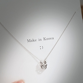 項鍊:S925純銀一鹿有你項鍊女  【新飾界】