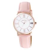 GOTO 低調奢華小資女皮革腕錶-粉紅色-GL0054L-48-241