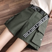工裝五分褲短褲 女夏季2020年新款寬鬆休閒五分褲運動高腰顯瘦外穿大碼 JX3053『男神港灣』