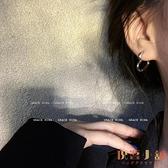 銀色冷淡風耳環耳飾耳釘女愛心耳扣耳圈【倪醬小鋪】