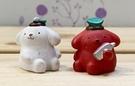 【震撼精品百貨】Pom Pom Purin_布丁狗~Sanrio 布丁狗招財擺飾兩入-白紅*80102