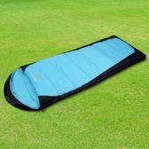 【APC】秋冬加長加寬可拼接全開式睡袋(雙層七孔棉)-藍黑色_SGS檢驗合格