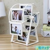 創意DIY手工製作訂製照片風車旋轉相框擺台相冊結婚生日禮物女生 【海闊天空】