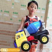 超大慣性攪拌車挖掘機玩具兒童工程車翻斗車大吊車男孩鏟車玩具車CY『韓女王』